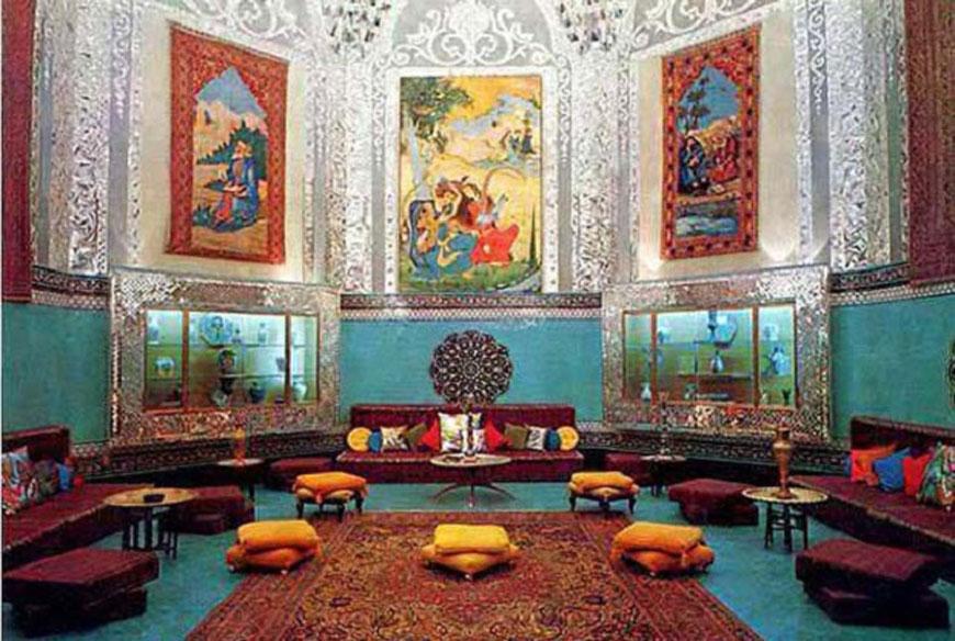 دوران قاجار - طراحی داخلی به سبک ایرانی سنتی