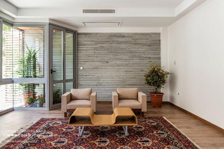 Andarzgoo Residential Building Iranian Architect  8  8904 800 506 100 1 - سبک تلفیقی (معماری مدرن و سنتی ایرانی)