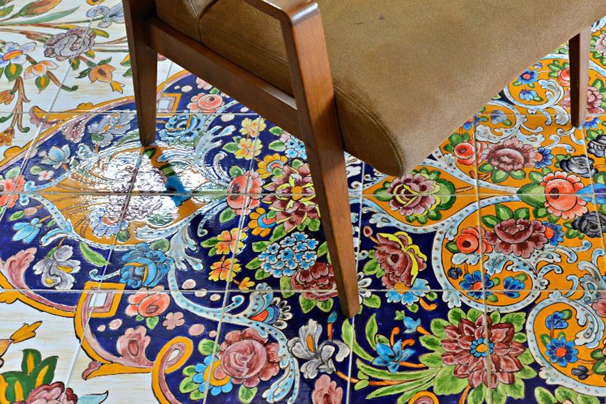 Flooring design - طراحی داخلی به سبک ایرانی سنتی