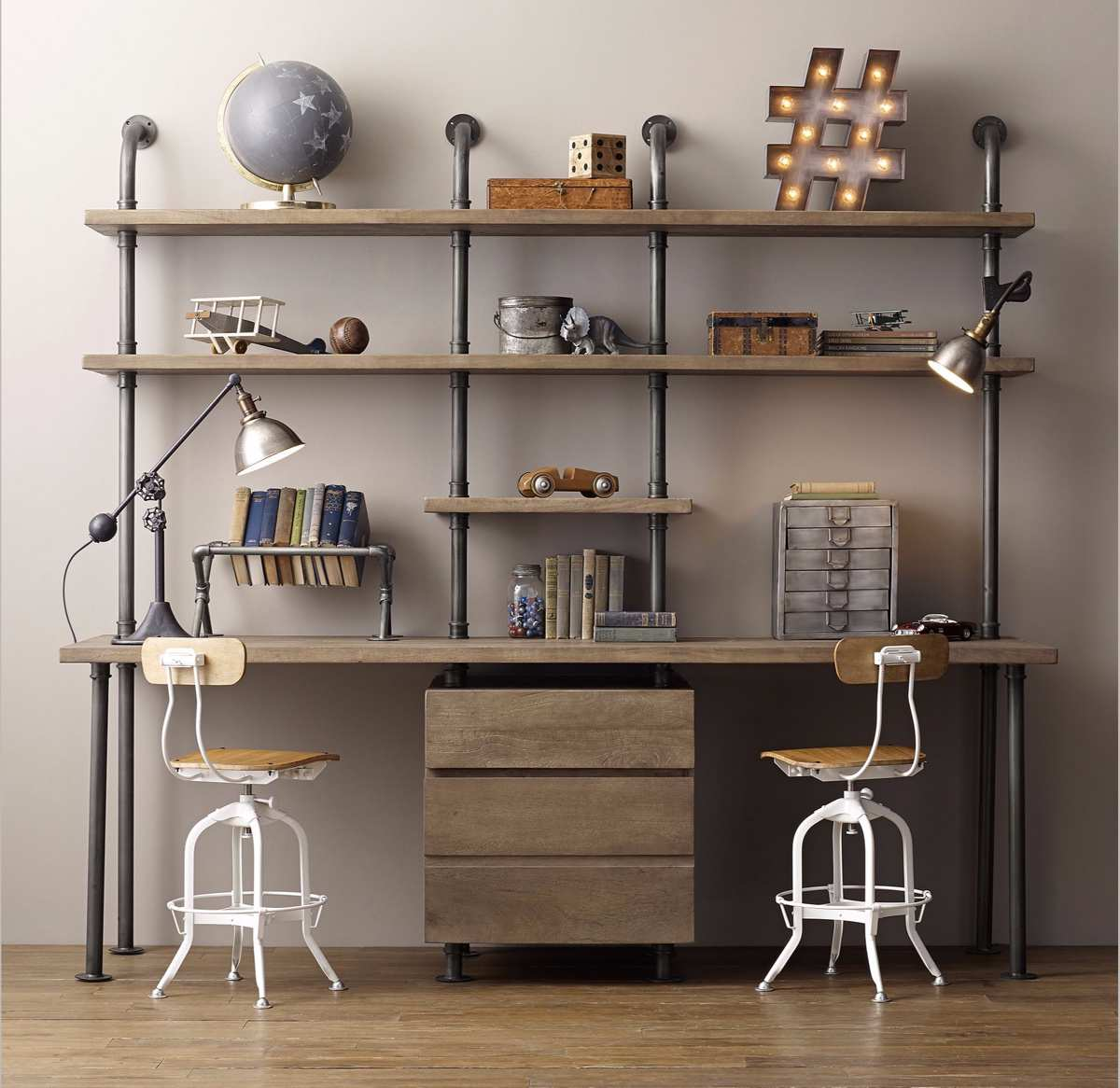 Industrial Style Home Offices 3 - دکوراسیون به سبک صنعتی