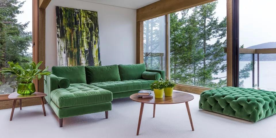 image4 greensofa 57ef1db93df78c690f736620 - دکوراسیون داخلی به سبک مدرن میدسنچری (میانه قرن بیستم)