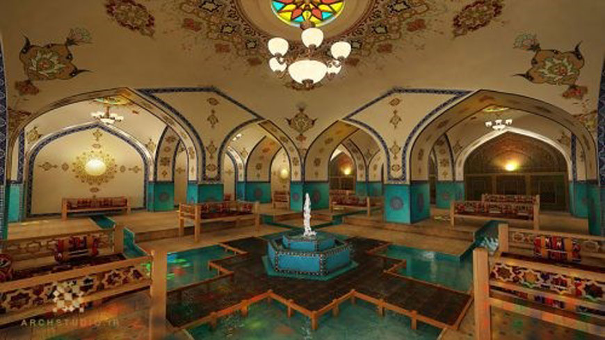 iranian Restaurant - طراحی داخلی به سبک ایرانی سنتی