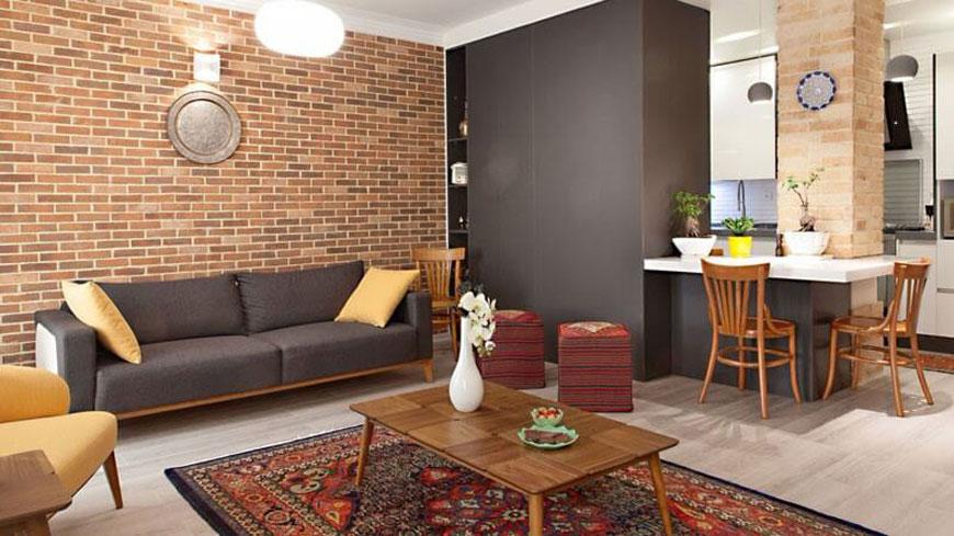livingroom style - سبک تلفیقی (معماری مدرن و سنتی ایرانی)