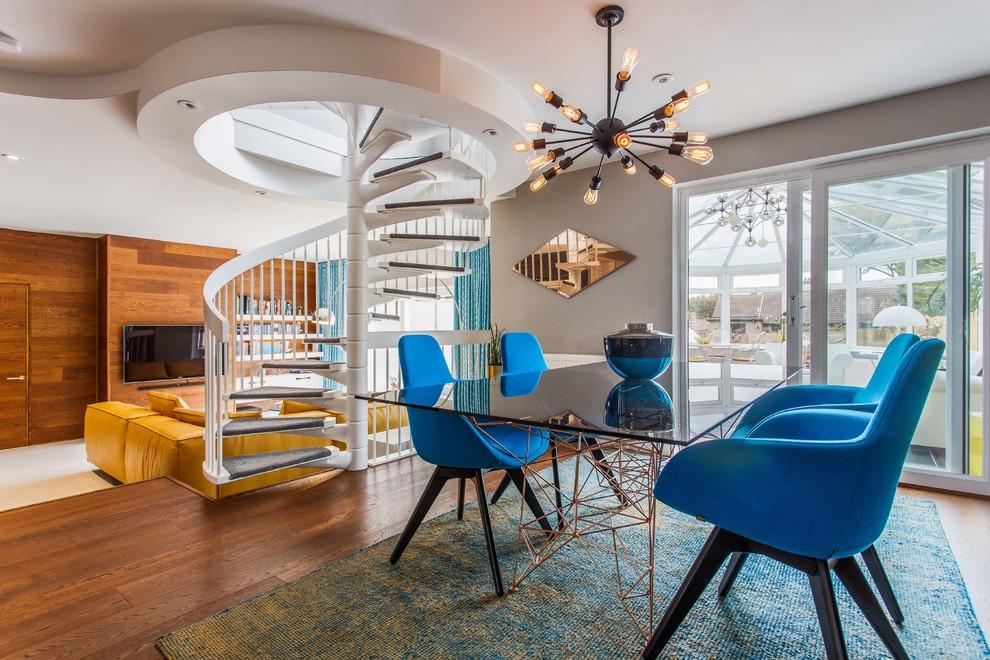 midcentury dining room - دکوراسیون داخلی به سبک مدرن میدسنچری (میانه قرن بیستم)