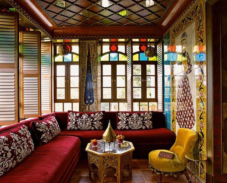 orci glass - طراحی داخلی به سبک ایرانی سنتی