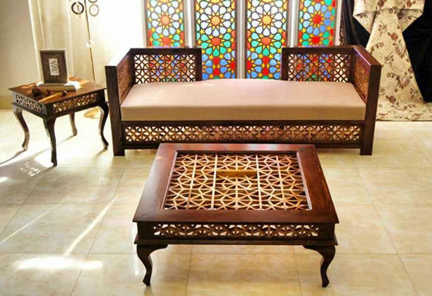 sofa - طراحی داخلی به سبک ایرانی سنتی