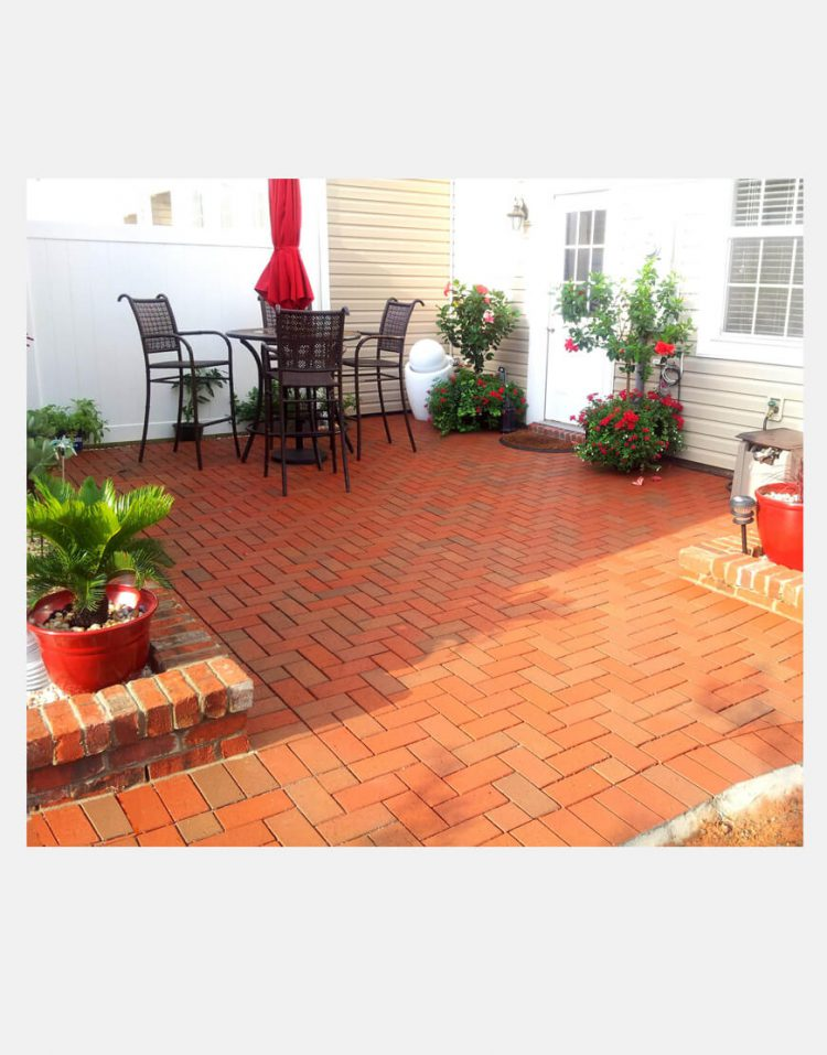 brick paver red 750x957 - سنگفرش خشتی سمیرم قرمز سهیل ۲۰*۷