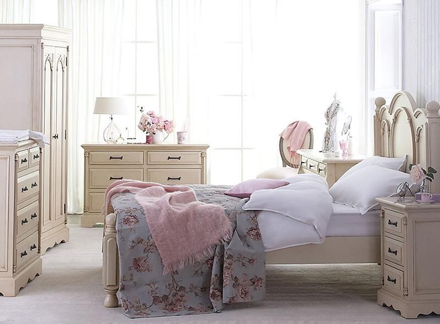 romantic bedroom design - دکوراسیون داخلی به سبک رومانتیک (shabby chic)