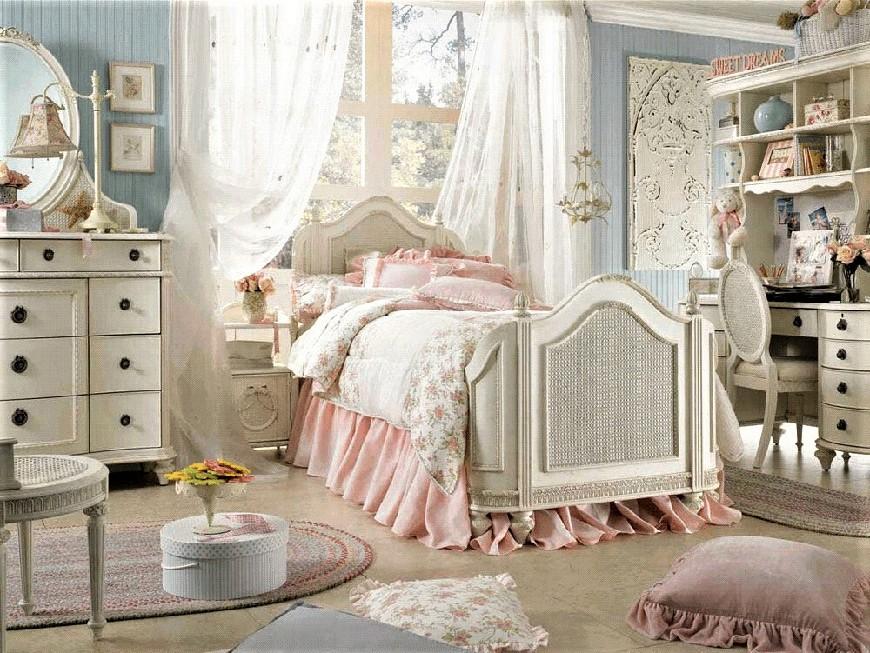 romantic bedroom style1 - دکوراسیون داخلی به سبک رومانتیک (shabby chic)