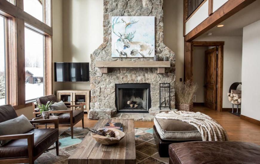 rustic living room 1 arianparax 1 - دکوراسیون داخلی به سبک روستیک  و ویژگی های آن