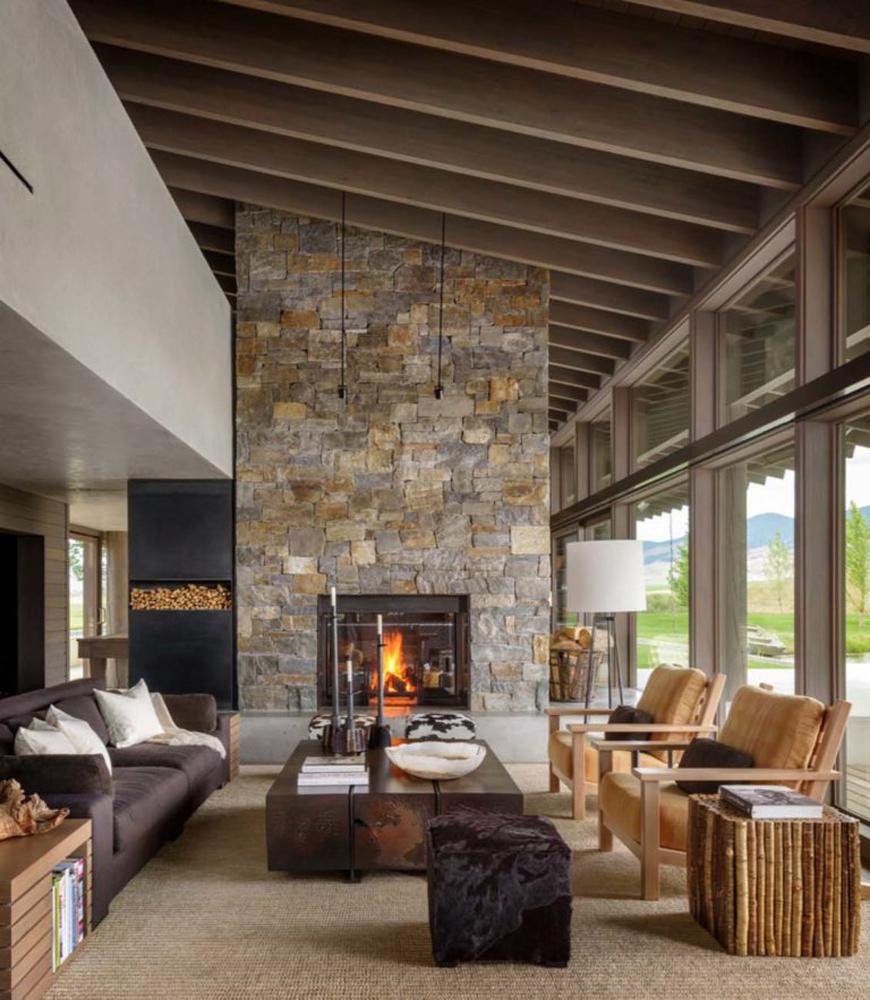 rustic living room 13 arianparax - دکوراسیون داخلی به سبک روستیک  و ویژگی های آن