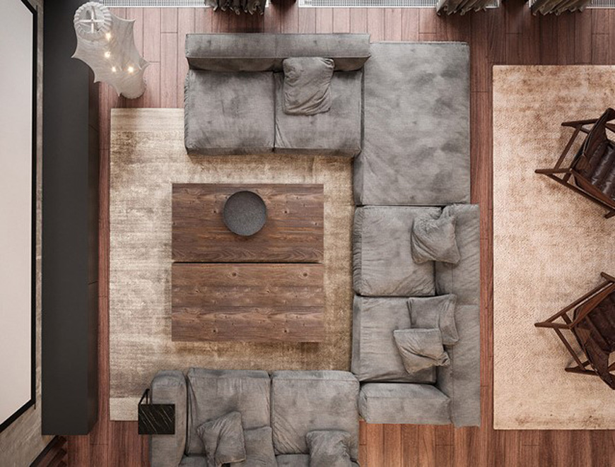 rustic sofa - دکوراسیون داخلی به سبک روستیک  و ویژگی های آن