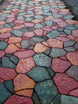 موزاییک طرح سنگ فرش بتنی طرح ساسو ۱۹*۳۶