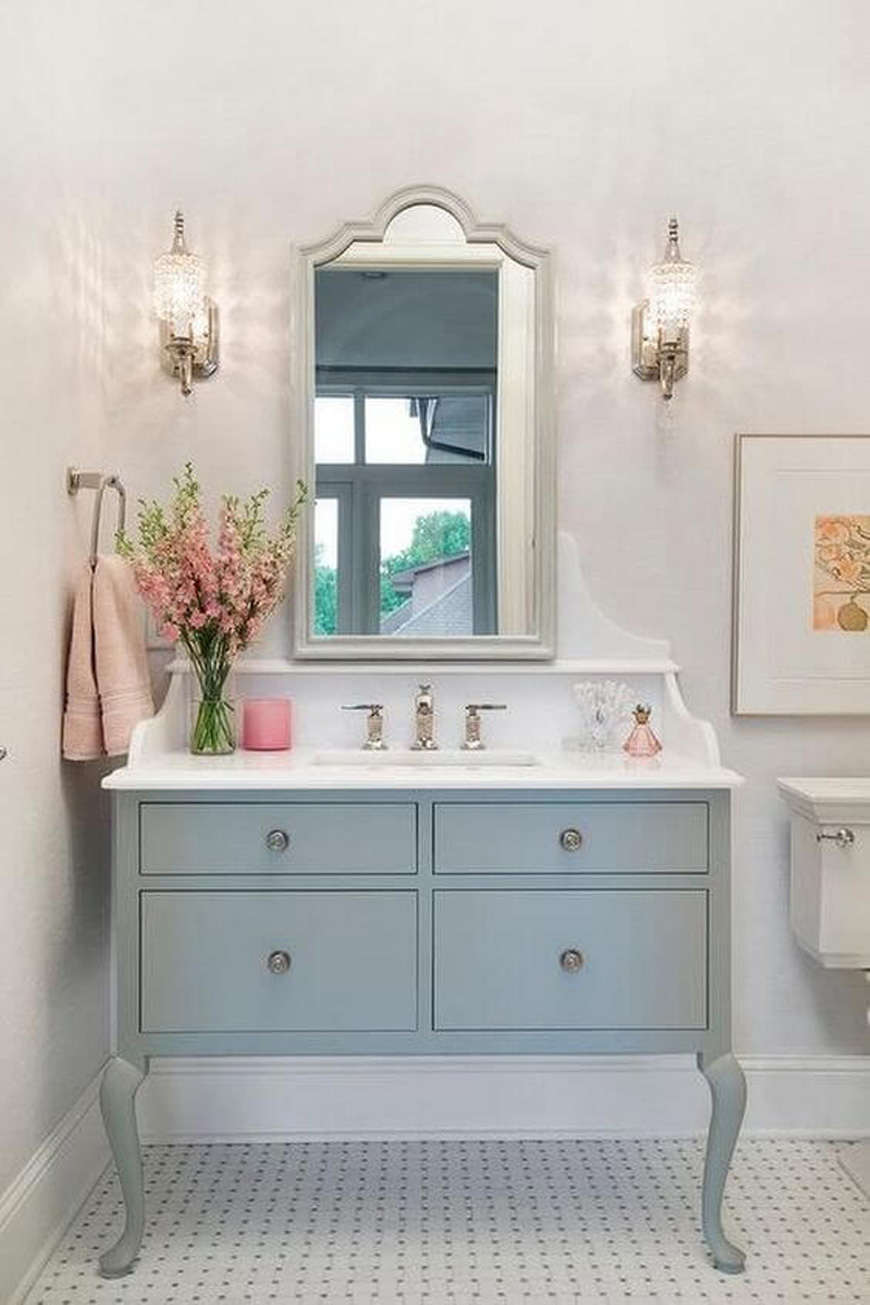 shabbychic bathroom design - دکوراسیون داخلی به سبک رومانتیک (shabby chic)