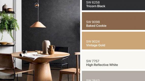 ۷ پالت رنگ قهوه ای در دکوراسیون