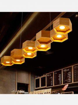 Arta design kando pendant codA102 1 268x358 - چراغ آویز سقفی چوبی طرح کندو مدل A102 آرتا
