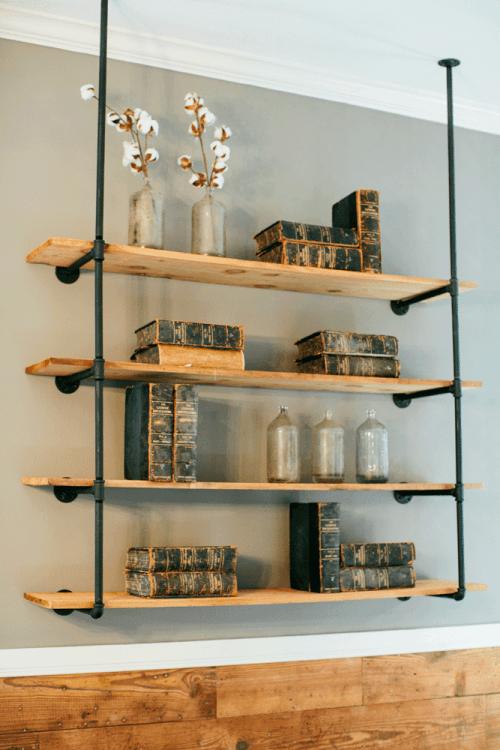 قفسه کتاب دیواری چوبی مدل A218 آرتا