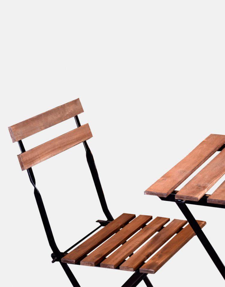 میز و صندلی تاشو دو نفره تولیکا مدل تارنو