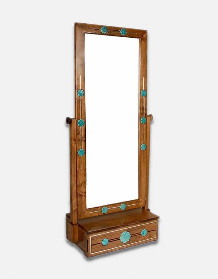 آینه ایستاده چوبی تک کشو شمس