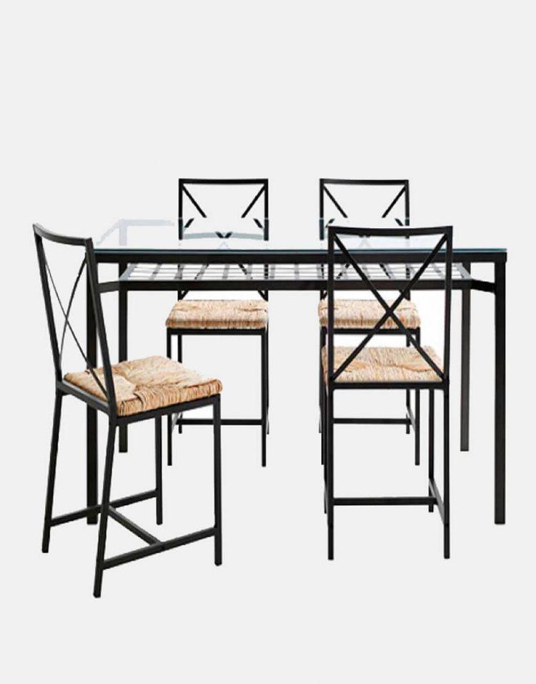 میز و صندلی صبحانه خوری ۴نفره مدل Granas ایکیا