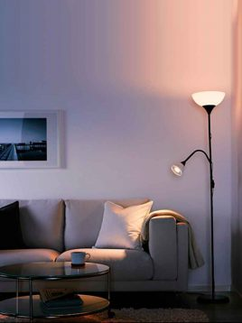 Ikea-black-floorlamp