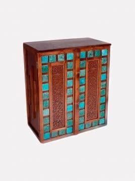 Lustrcenter firoozehmodel wooden shoesbox 268x358 - جا کفشی چوبی مدل فیروزه