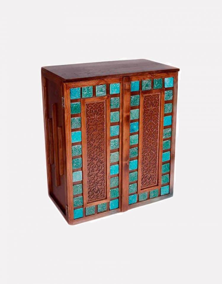 جا کفشی چوبی مدل فیروزه