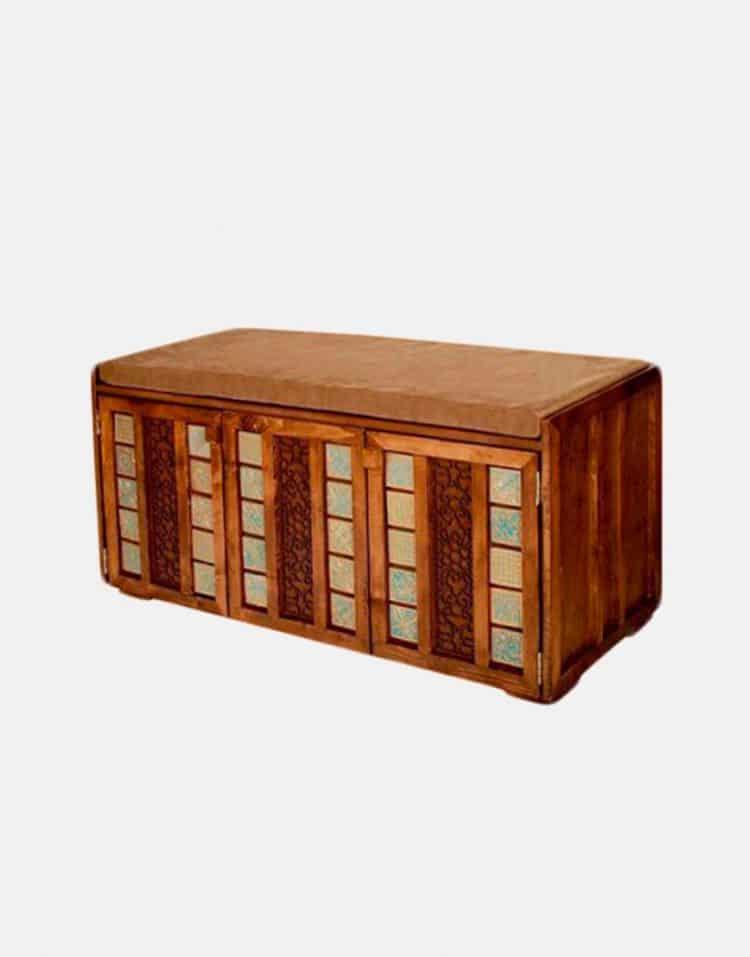 جاکفشی چوبی معرق مدلC