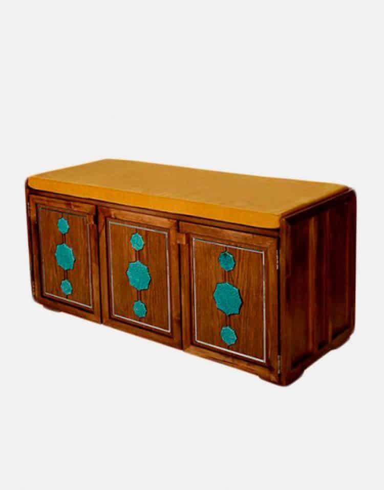 جاکفشی چوبی معرق مدلE