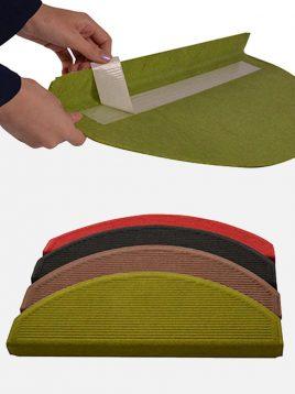 babel semicircular indoor cover step 2 268x358 - رو پله ای موکتی نیم دایره