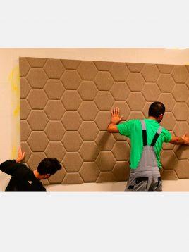 babel wasp nest design sound insulation 1 268x358 - عایق صوتی تزئینی طرح لانه زنبوری