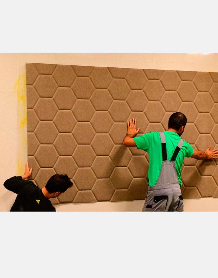عایق صوتی تزئینی طرح لانه زنبوری بابل