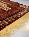 قالیچه گل ابریشم طرح محراب دکو فرش