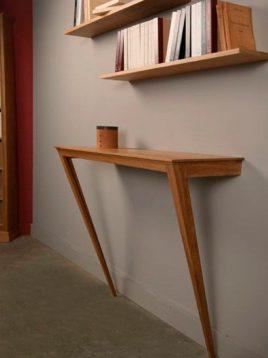کنسول چوبی با پایه های اریب یکا