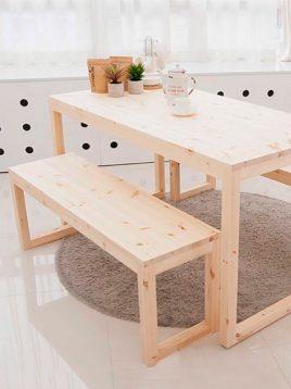 میز و نیمکت چوبی یکا