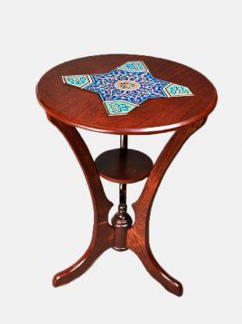 hendesi Austrian salon table 268x358 - میز کنار سالن طرح اتریشی