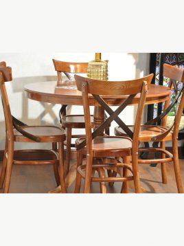 میز صندلی صبحانه خوری گرد ۴ نفره هندسی