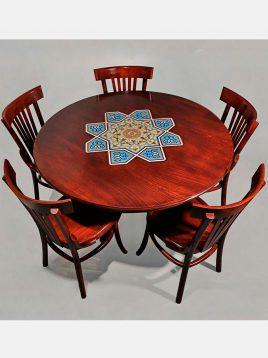 میز گرد پنج نفره هندسی
