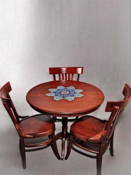 ست میز و صندلی گرد سه نفره هندسی