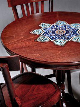 میز گرد سه نفره هندسی