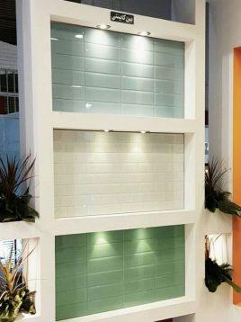 تایل آینه ای رنگی بین کابینتی مستطیلی