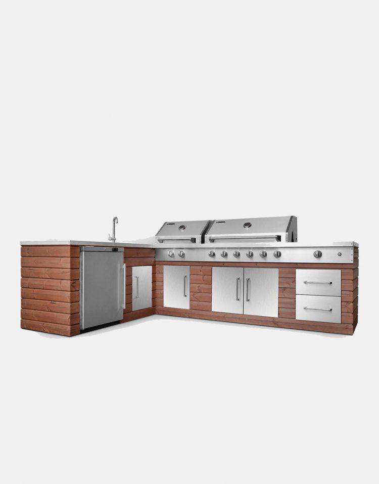 باربیکیو و آشپزخانه فضای باز جهان گاز طرح اِل