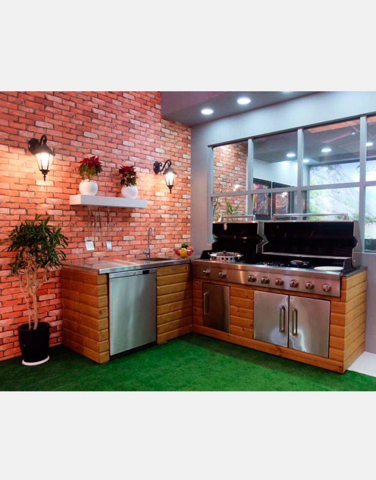 jahangaz Barbecue iland L Plan 2 750x957 - باربیکیو ایلند طرح ال جهان گاز