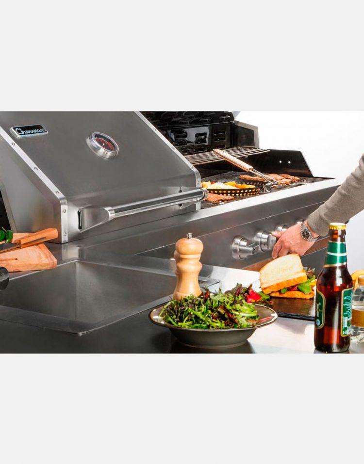 jahangaz Barbecue iland L Plan 3 750x957 - باربیکیو ایلند طرح ال جهان گاز