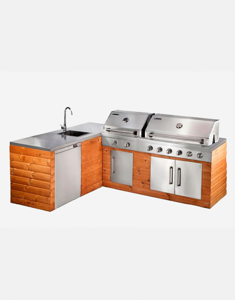 jahangaz Barbecue iland L Plan 750x957 - باربیکیو ایلند طرح ال جهان گاز