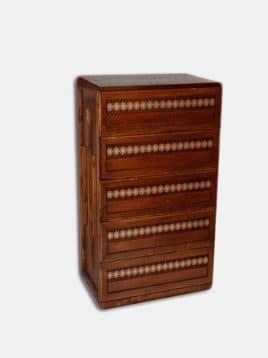 خرید جاکفشی چوبی سنتی معرق