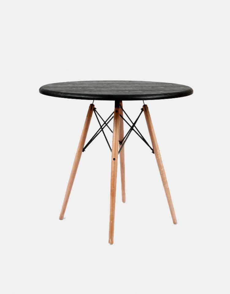 میز گرد پایه چوبی ایفلی استیل هامون