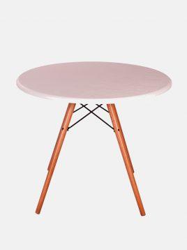میز عسلی گرد پایه ایفلی استیل هامون