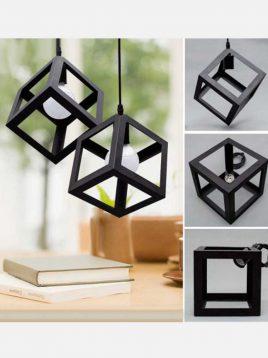 چراغ آویز طرح مکعب روشنایی تابش