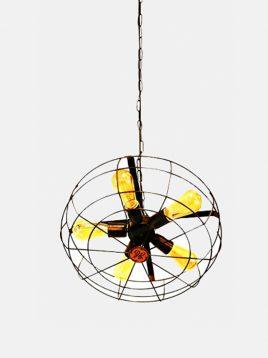 چراغ آویز طرح پنکه روشنایی تابش